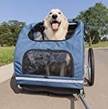 PetSafe Happy Ride Steel Dog Bike Trailer - Durable Frame - Easy to Connect and Disconnect to Bicycles - Includes Three…