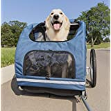 PetSafe Happy Ride Steel Dog Bike Trailer - Durable Frame - Easy to Connect and Disconnect to Bicycles - Includes Three Stora