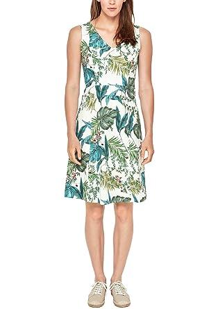 zeitloses Design kostengünstig Schlussverkauf s.Oliver RED LABEL Damen Fit & Flare-Kleid mit Jungle-Print ...