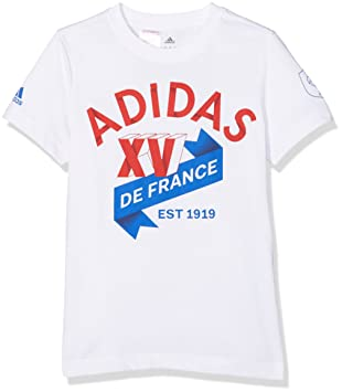 timeless design 8e0ab c8073 adidas G79096 A T-Shirt Enfant Blanc FR   11-12 ans (Taille Fabricant