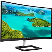 "Philips 272E1CA 27"" Curved Frameless Monitor, Full HD 1080P, 100% sRGB, Adaptive-Sync, Speakers, VESA, 4Yr Advance…"