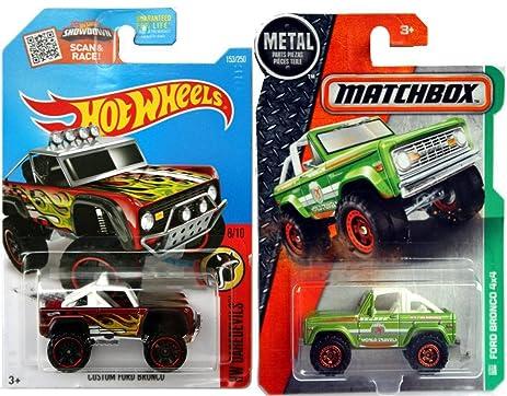 Ford Bronco Hot Wheels U0026 Matchbox Editions Ford Bronco 4x4 World Traveller  #118 + Custom
