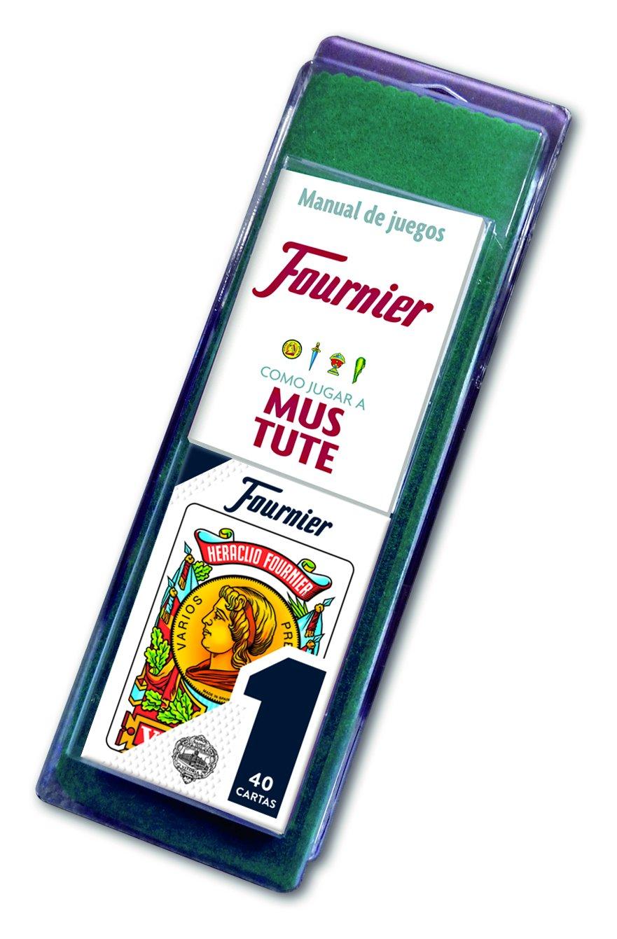 Fournier- Nº 1-40 Cartas Set de baraja Española y tapete con Reglamento de Mus y Tute, (F36790)