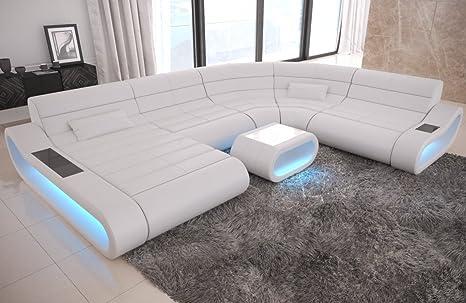 Sofa Dreams Leder Wohnlandschaft Concept Xxl Mit Ottomane Und