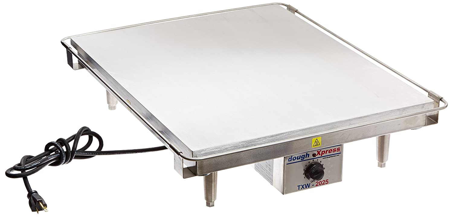 "DoughXpress TXW-2025 Stainless Steel Tortilla Flat Grill Warmer, 220V, 20"" Width x 6"" Height x 25"" Depth"