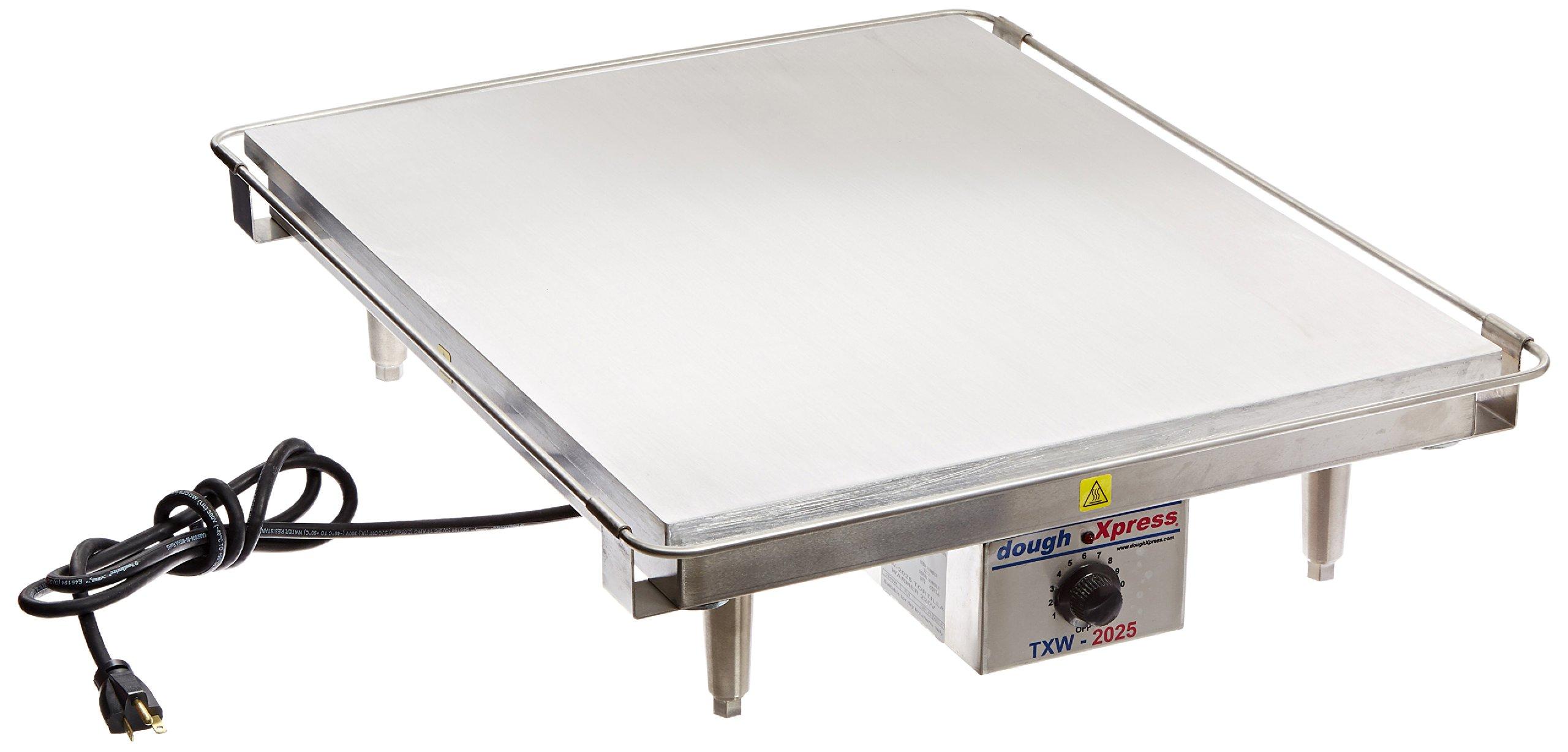 DoughXpress TXW-2025 Stainless Steel Tortilla Flat Grill Warmer, 220V, 20'' Width x 6'' Height x 25'' Depth
