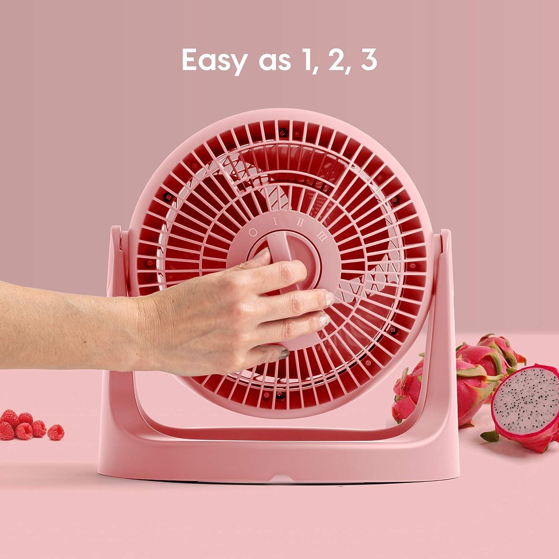 Small Tabletop Gray IRIS USA PCF-HE15N Air Circulator Fan