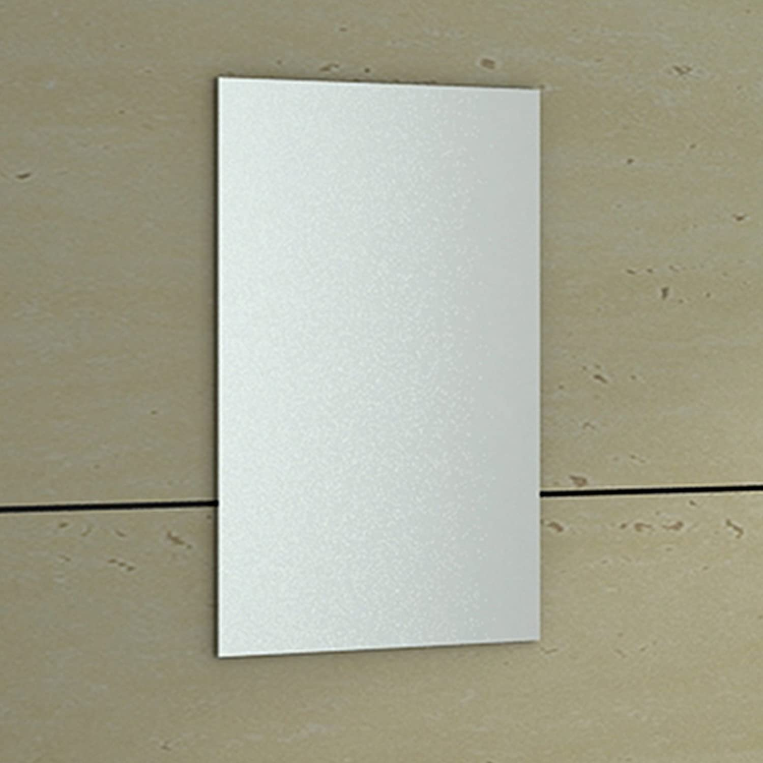 ENKI 400 X 600 Mm Rectangular Bathroom Wall Mounted Glass Frameless Mirror Bevelled HORIZON Amazoncouk DIY Tools