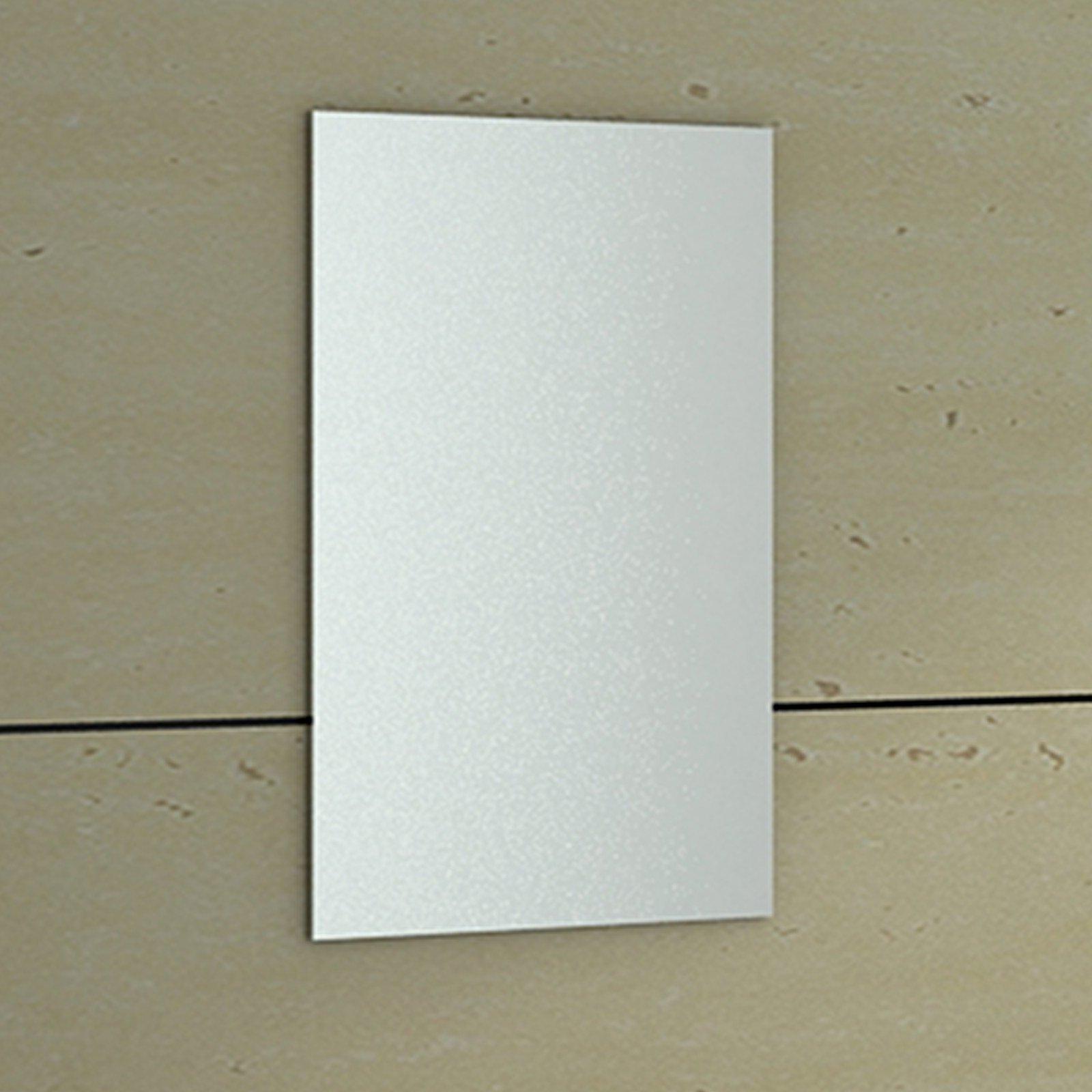 ENKI BM004 500 x 700 mm Rectangular Horizon Bathroom Wall Mounted Glass Bevelled Frameless Mirror - Mirror