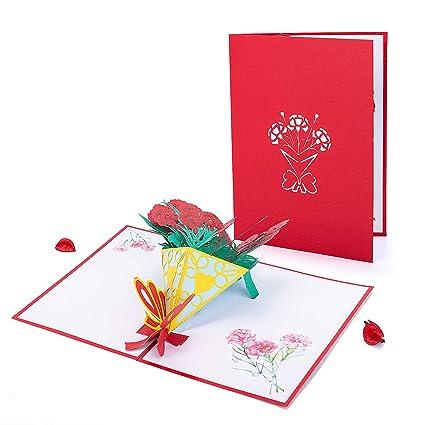 Tarjeta 3D Flor, Tarjeta de Felicitación HOMEWINS Invitación ...