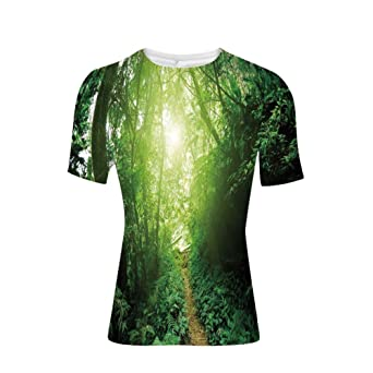 Review T-Shirt for Men,Malaysia Rainforest