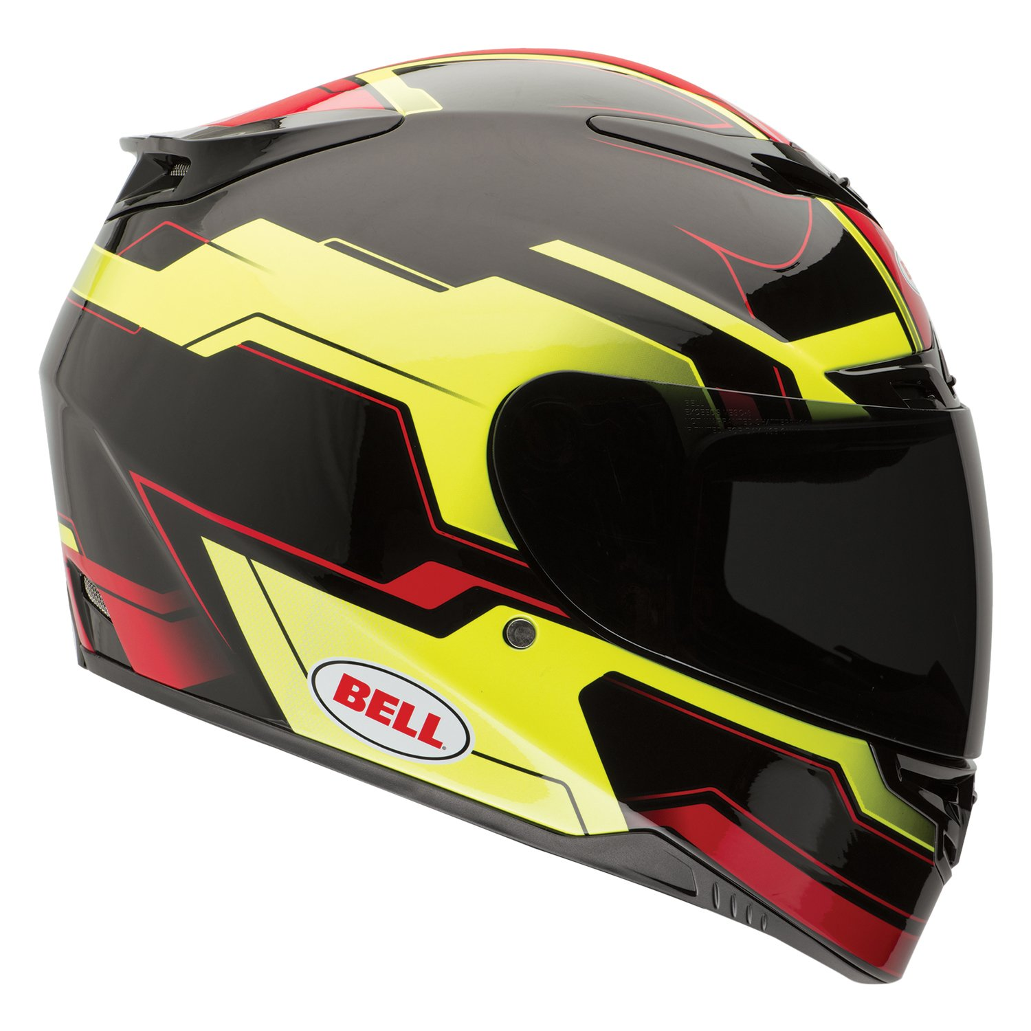 Noir Black Solid Bell Powersports Casques Street 2015 RS-1 High Visibility Casque pour Adultes ,L