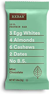 product image for RXBAR, Mint Chocolate, Protein Bar, 1.83 Ounce (Pack of 12), High Protein Snack, Gluten Free
