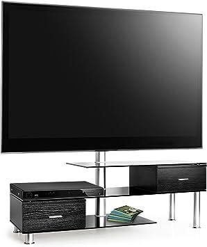 Auna Mesa de TV y Soporte de Pared para televisor, Color Negro aparador (50 kg Capacidad de Carga, Soporte Giratorio Flexible, Universal): Amazon.es: Electrónica