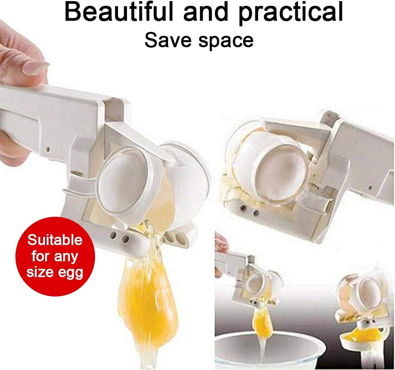 无 Abridor de Huevos Herramientas de Cocina Creativas Huevos de separaci/ón r/ápida Separador de Huevos de Mano