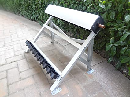 manifold (10 holes) with bracket for solar collector (tube 58*500mm)