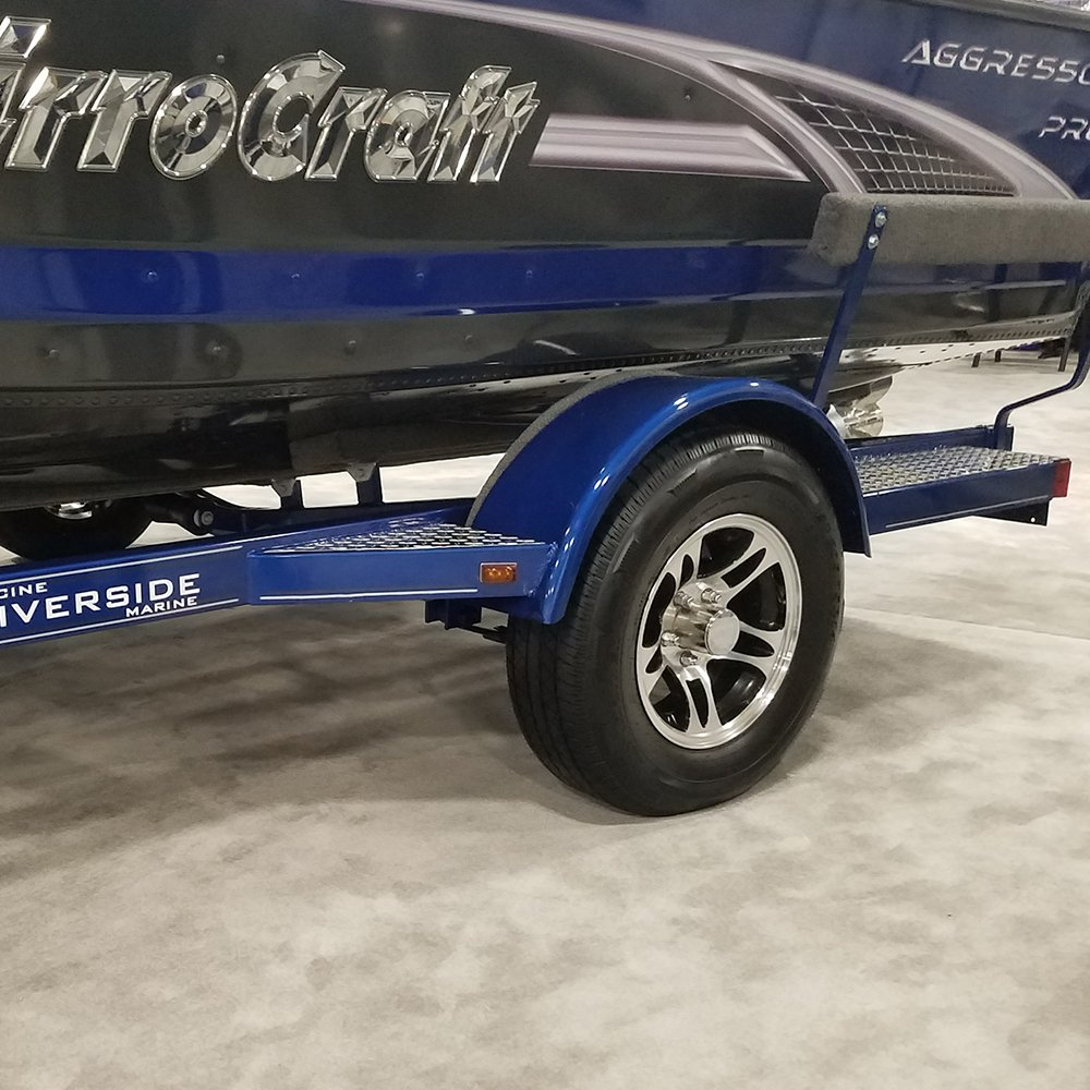 Black HWT S524440B 12X4 4//4 Aluminum S5 Trailer Wheel