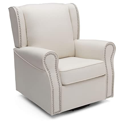 Delta Furniture Middleton Upholstered Glider with Gliding Ottoman Sea Breeze