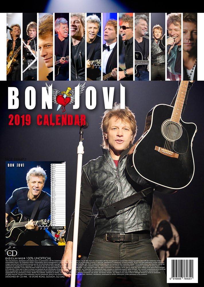 BON JOVI CALENDRIER 2019 BON JOVI AIMANT POUR LE FRIGO