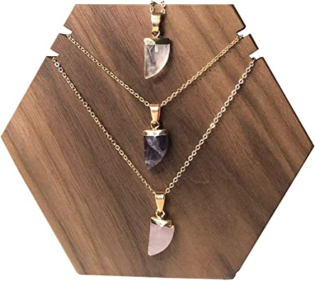 Spiritual Gifts for Friend Natural Crystal Jewelry Clear Quartz Point Pendant Raw Quartz Necklace