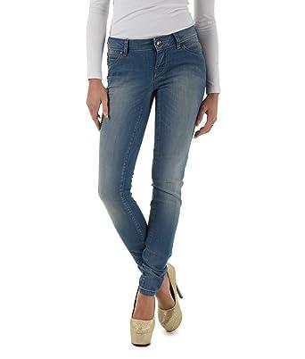 5c17b0e25d195b ONLY Damen Jeans 15071620/SKINNY LOW CORAL REA1900 NOOS Skinny/Slim Fit  (Rhre) Niedriger Bund