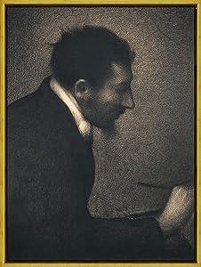 "Collectible Wall Art 12""X16""Georges Seurat(Portrait of Edmond Francois),Vintage Tin Sign Art Decor for Coffee Office Pool Yard Public Toilet Parking Home Wall Decor Vintage Art"
