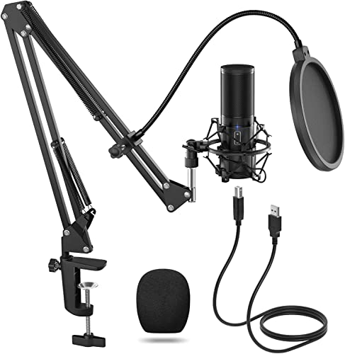 TONOR USB Microphone Kit, Streaming Podcast PC Condenser Computer Mic