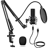 TONOR USB Microphone Kit Q9 Condenser Computer Cardioid Mic for Podcast, Game, YouTube Video, Stream, Recording Music, Voice