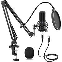 TONOR Micrófono de Condensador USB Micro Grabación Patrón Polar Cardioide para Grabar Música y Video Podcast Transmisión…