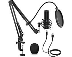 TONOR USB Microphone Kit, Streaming Podcast PC Condenser Computer Mic for Gaming, YouTube Video, Recording Music, Voice Over,