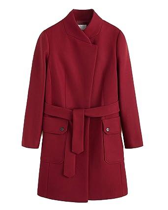 MANGO Women s Belted Wool Coat 41030708 Red  Amazon.co.uk  Clothing 68f222da9