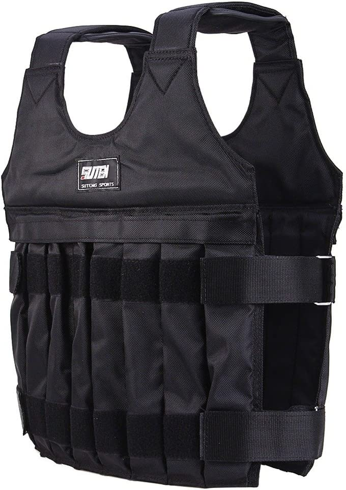 Handfly 10-20KG Black Adjustable Weighted Vest Workout Exercise Boxing Training Fitness Empty