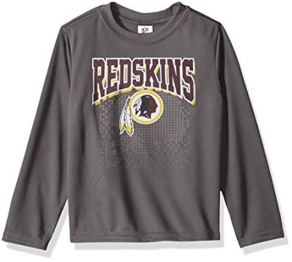 new photos 71dc6 bd6a3 NFL Washington Redskins Unisex Long-Sleeve Tee, Gray, 3T