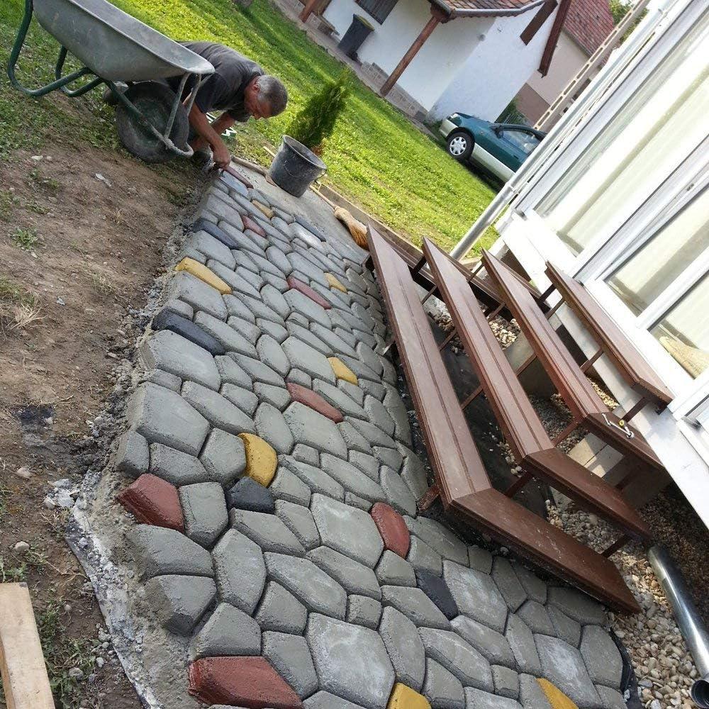 HENGDA/® Betonform Pflasterform Schalungsform Gie/ßform Plastikformen f/ür Beton Garten Gehwegen Trittsteinen DIY Natursteinpflaster Pflastersteine Terrassenplatten
