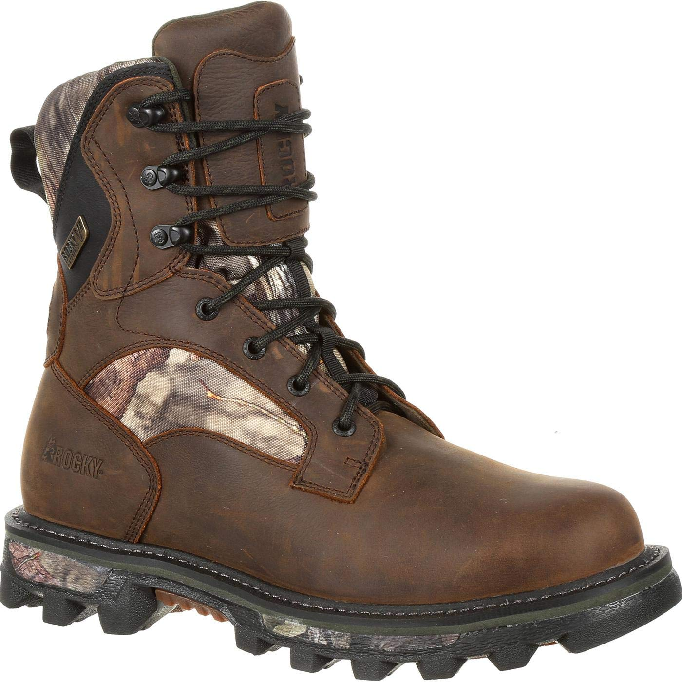 Rocky Men's 8'' Bearclaw FX 800g Insulated Waterproof Outdoor Boots, Brown, 8 W