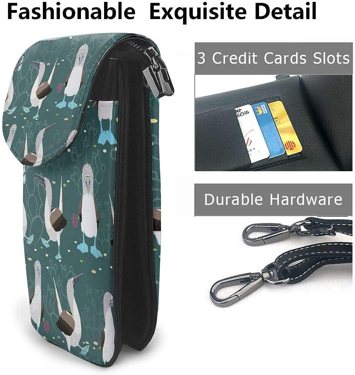 Blue-Footed Booby Bird Mini Crossbody Shoulder Bags Cellphone Purse Wallet