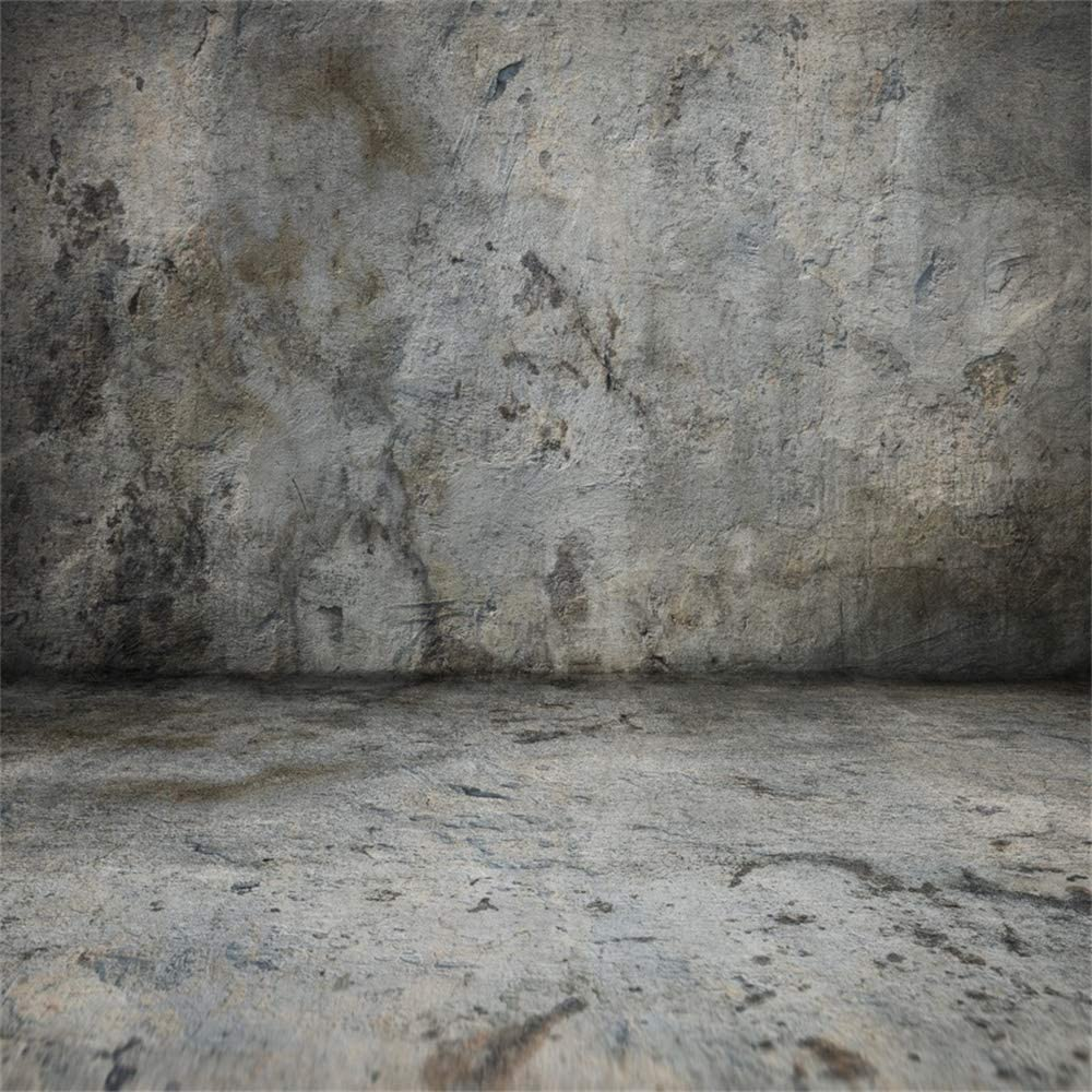 Laeacco 10x7ft Shabby Grunge Room Interior Vinyl Photography Background Dirty Striped Wall Rusty Photoframes Old Vase Rustic Tile Floor Backdrop Child Adult Pet Portrait Shoot Nostalgia Photo Studio