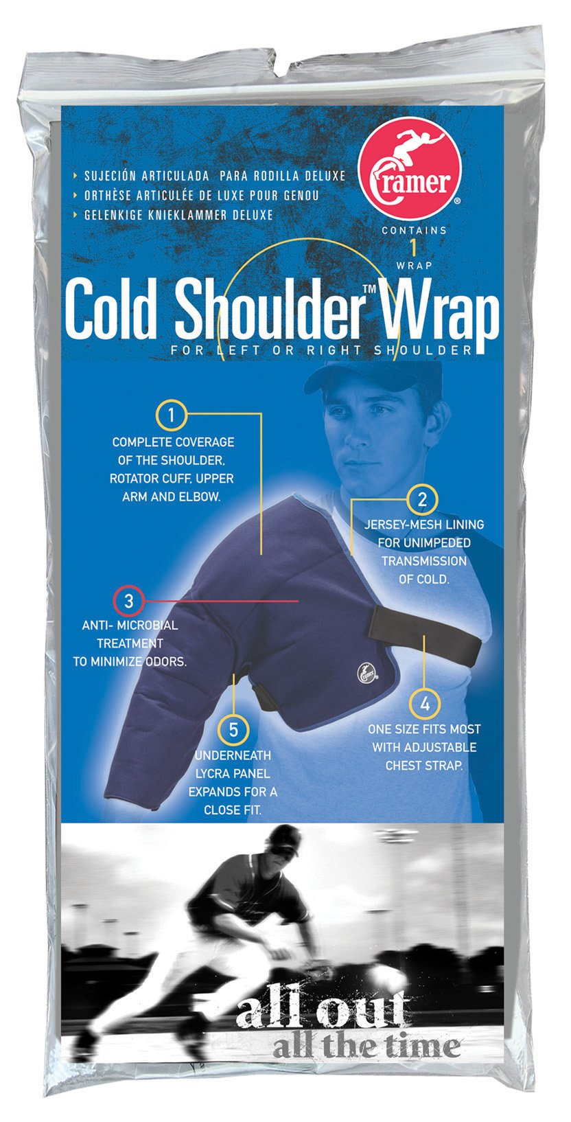 Cramer Cold Shoulder Wrap, Shoulder Ice Pack, Shoulder Ice Wrap for Shoulder and Rotator Cuff Injuries, Physical Therapy, Rehabilitation, Decrease Swelling, Injury Recovery, Baseball Injuries, Reusable