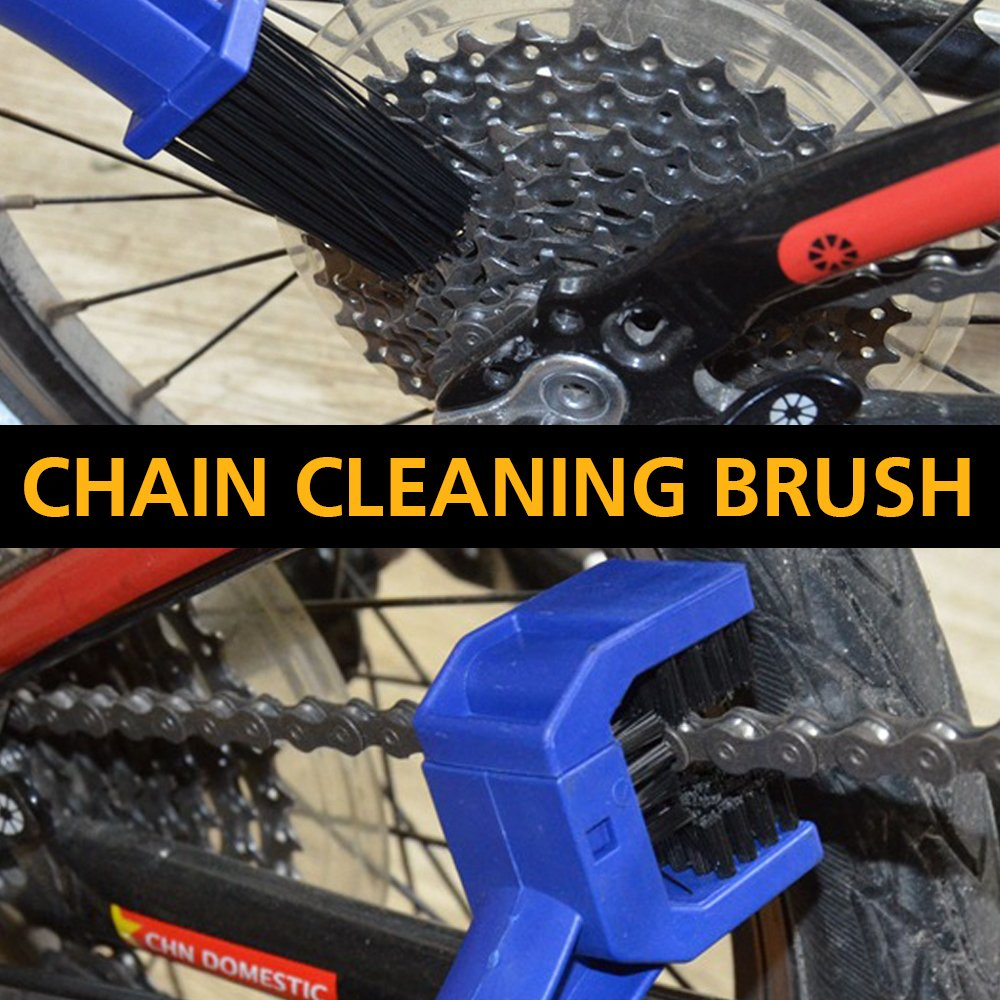 Anndason Latest Model 8 Pieces Precision Bicycle Cleaning Brush Tool Suitable for Mountain, Road, City, Hybrid,BMX Bike and Folding Bike