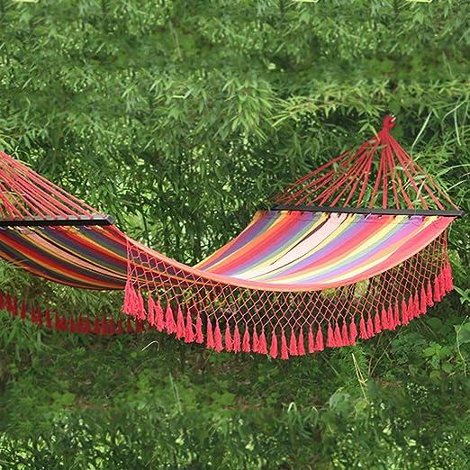 QJJML Hamaca De Exterior, Capacidad PortáTil hasta 150 Kg, para Jardines De Patio, Red: Amazon.es: Jardín