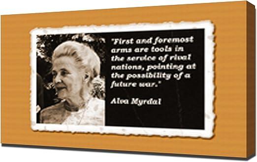Amazon Com Alva Myrdal Quotes 3 Canvas Art Print Posters Prints