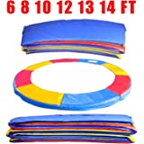 Greenbay 6ft, 8ft, 10ft, 12ft, 13ft, 14ft Premium Replacement Trampoline Surround Pad | UV resistant PVC top | EPE foam(thickness:15mm, width:300mm) | Safety Guard Spring Cover Padding Pads Tri-Colour