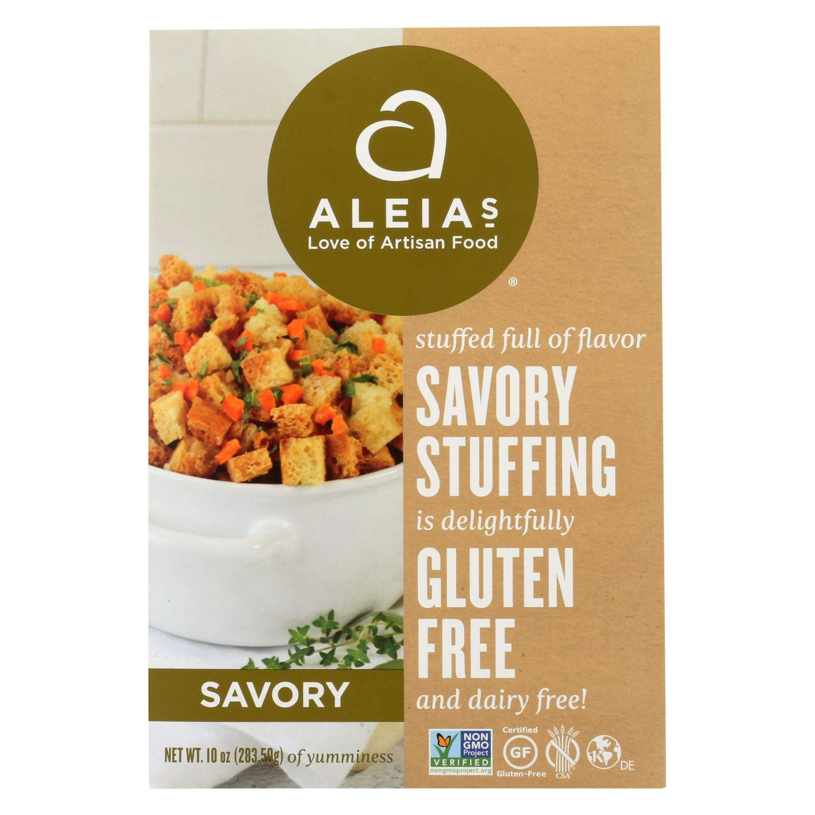 Aleias Gluten Free Bakery, Stuffing Mix Savory, 10 Ounce by Aleias Gluten Free Bakery