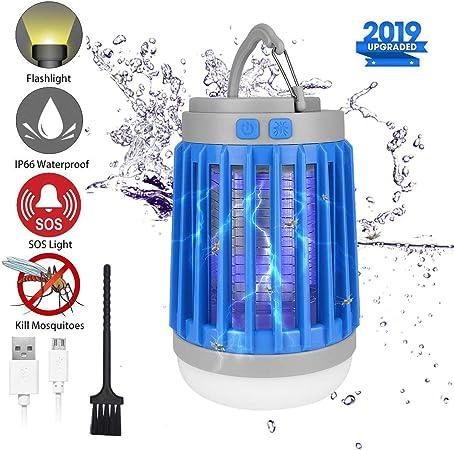 LED de luces de camping mosquito Zapper Linterna Impermeable Bug asesino nos Recargable