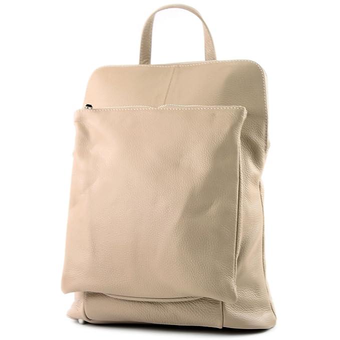 modamoda de - ital. Leather Backpack Backpack 3in1 Backpack Citybag ... 71854416dfce1