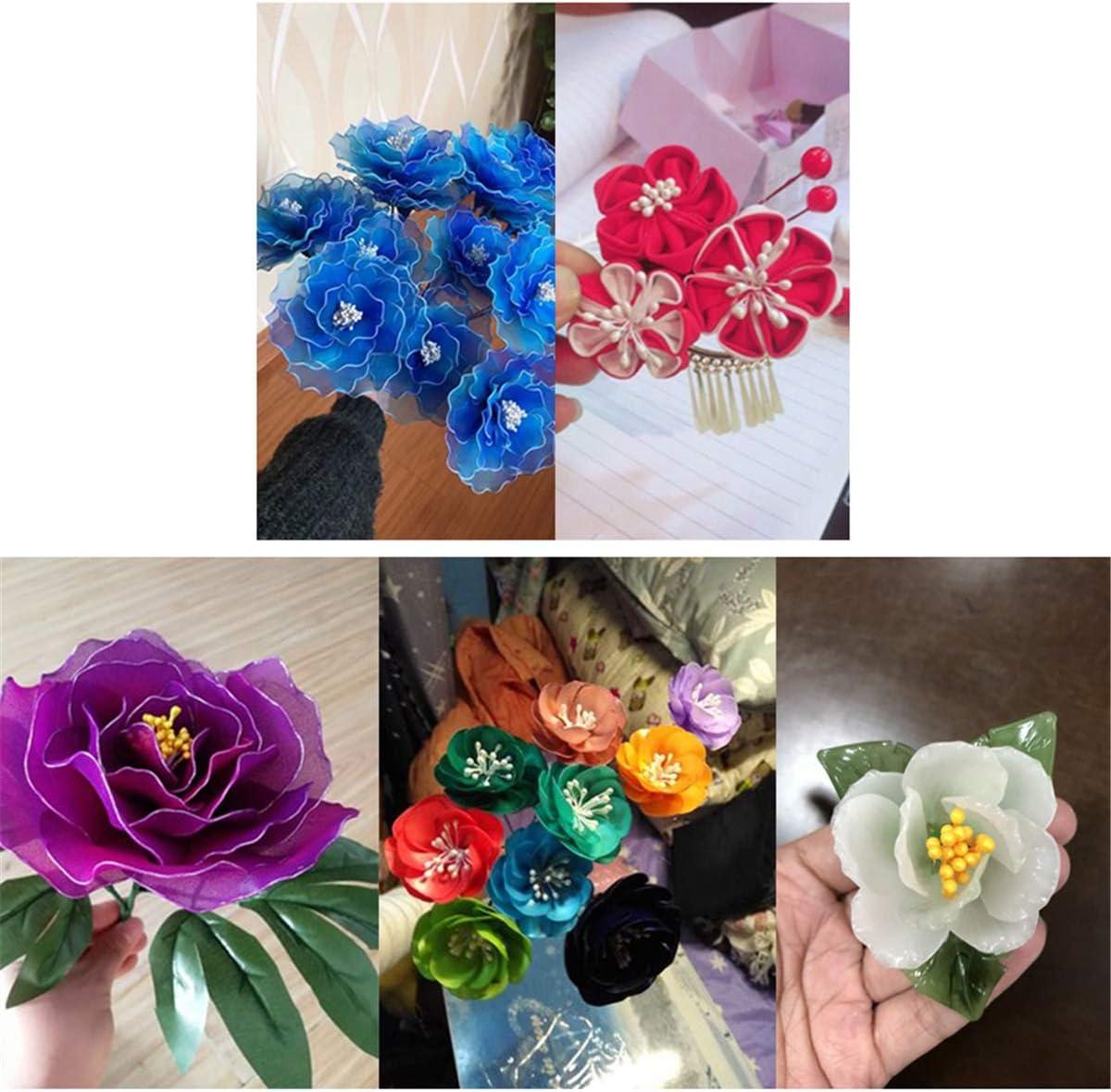 ECYC 900pcs Al/éatoire Mixte Double T/êtes Fleur /Étamine pour la Fabrication de Fleurs DIY Artificielle Mini Perle Fleur /Étamine Pistil