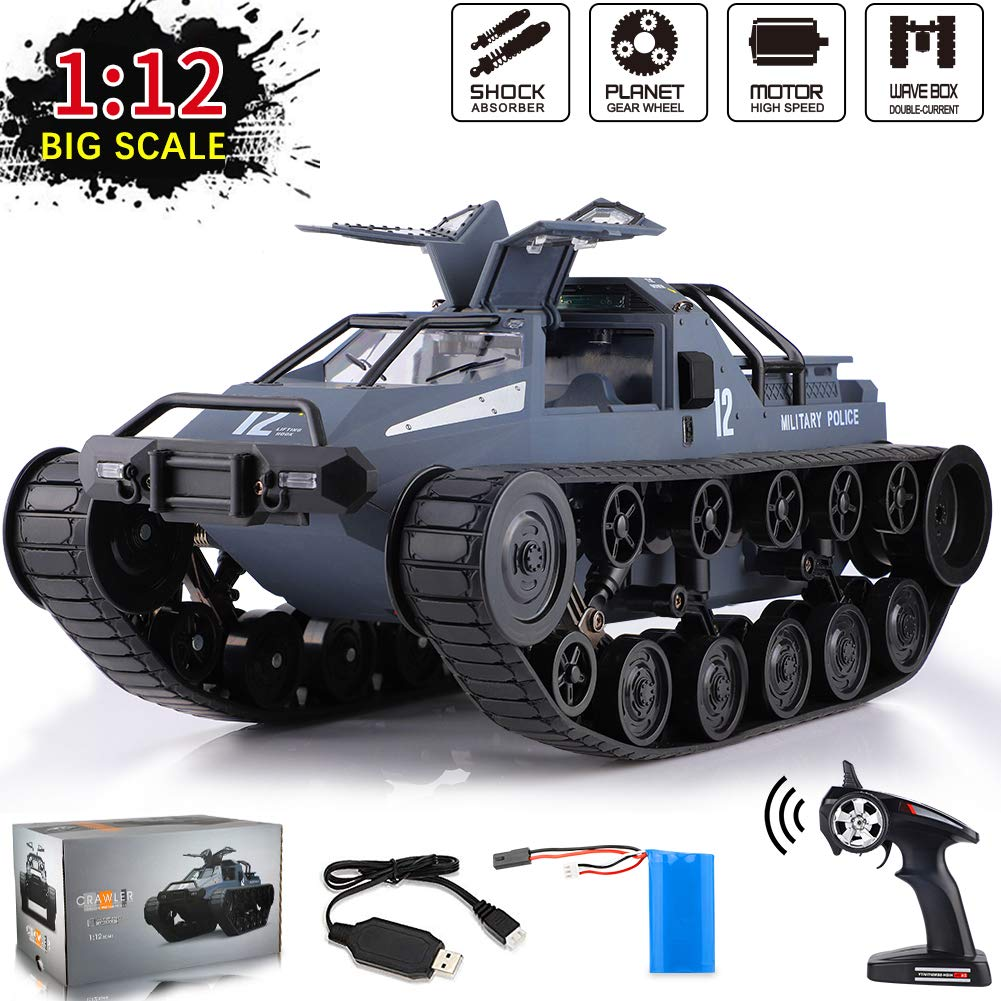 1:12 Scale Remote Control Police Tank Car