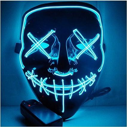 Máscara De Halloween Con Luz Led Divertidas Máscaras De La Purga Elección Año Gran Festival Cosplay Suministros De Disfraz De Fiesta Máscara P Toys Games