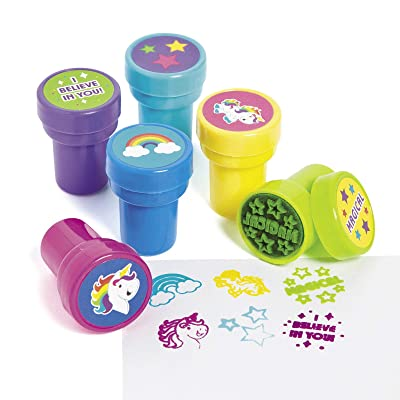 UNICORN STAMPERS - Stationery - 24 Pieces: Toys & Games