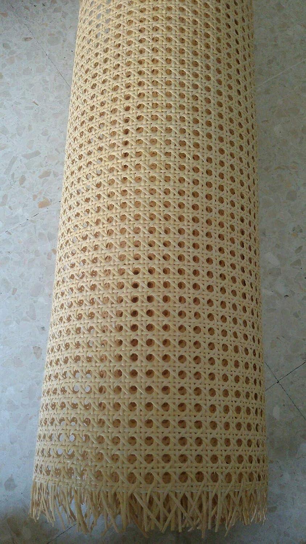 Kit de Rejilla Mimbre para reparación de sillas, Incluye junquillo para su Montaje (46 x 60 cm)